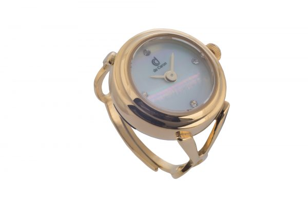 Finger Ring Watch Gold Side