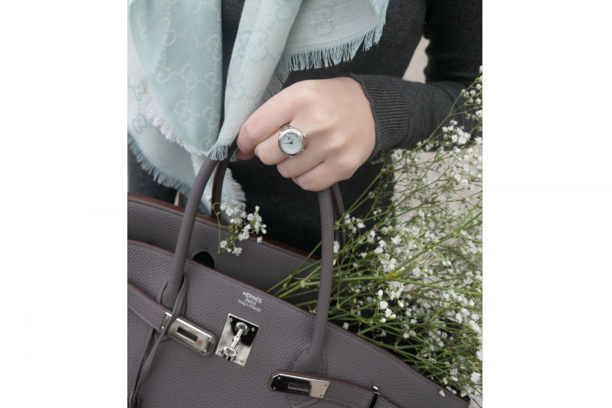 de caron silver watch ring
