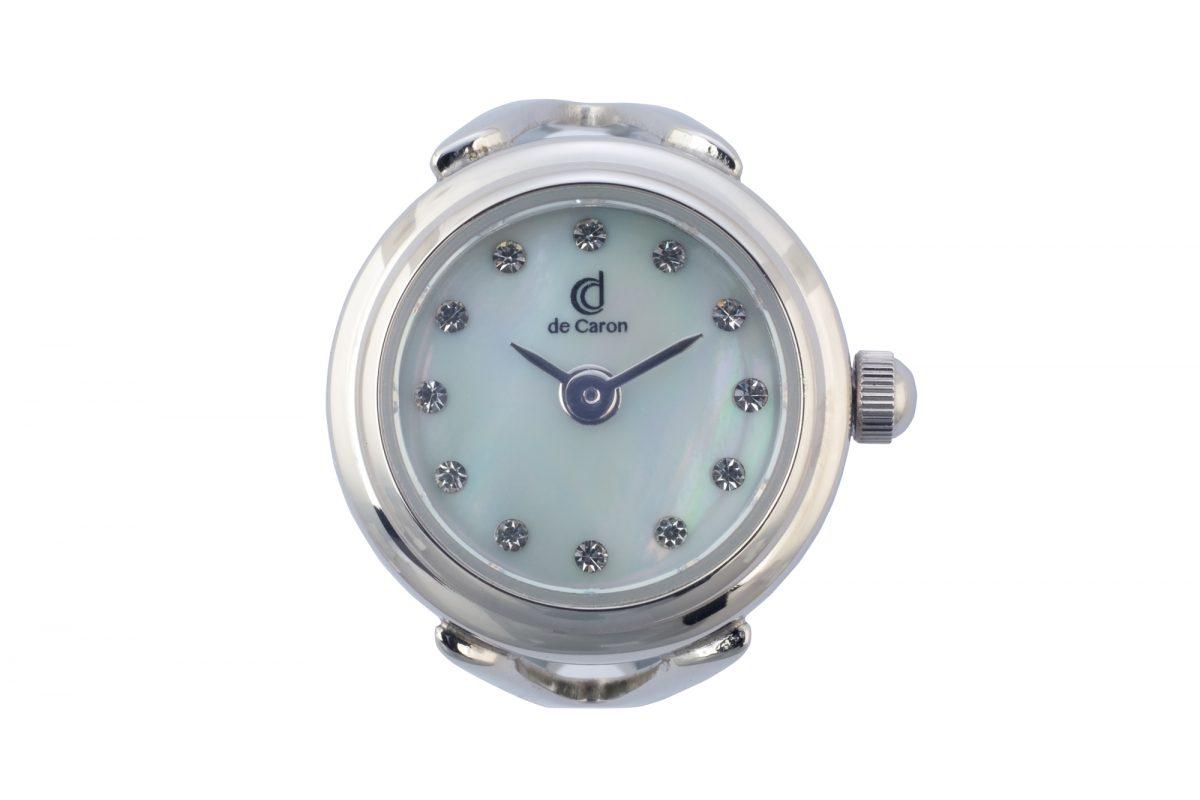 Silver Swarovski Watch Ring