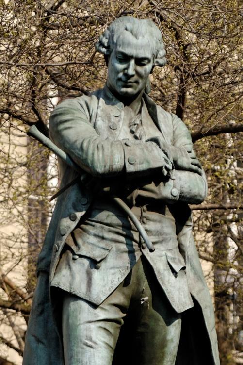 Caron de Beaumarchais Statue Paris